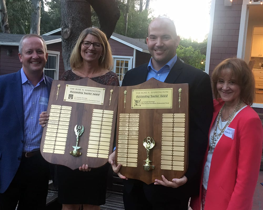 Rose Harrington Award winners Karen Gilmour and Justin Vallasidis